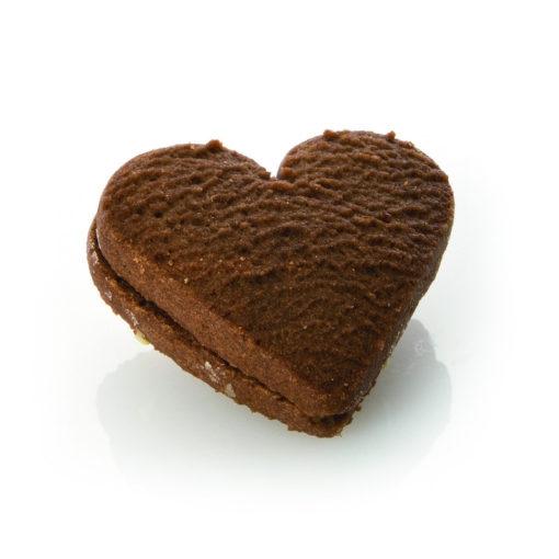 Cuori cacao accoppiati crema