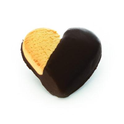 Biscotti frolla glassati - cuore cioccolato