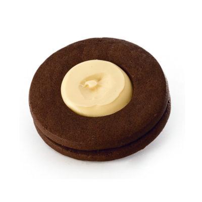 Occhi di bue grandi cacao - crema bianca