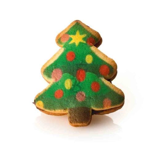 Biscotti Abete di natale - crema nocciola