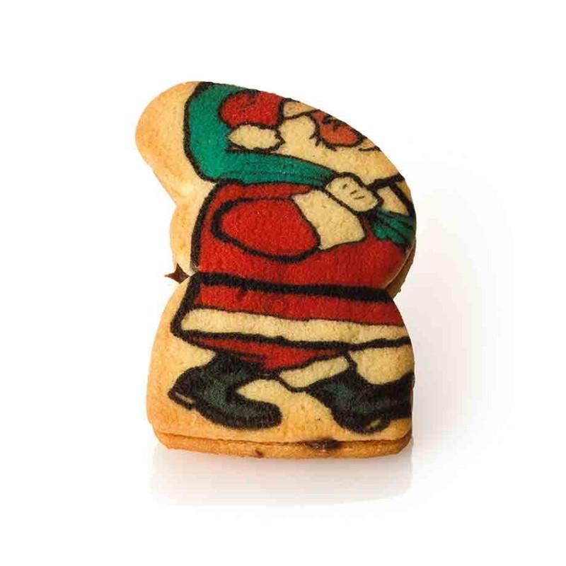 Biscotti Babbo natale - crema nocciola