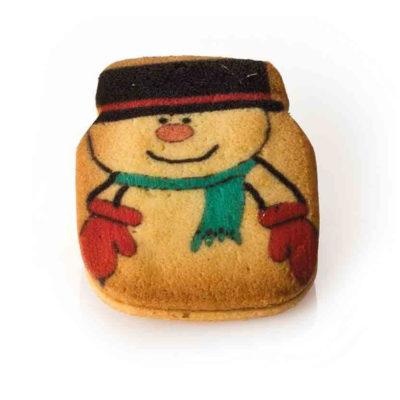 Biscotti Pupazzo di neve - crema nocciola