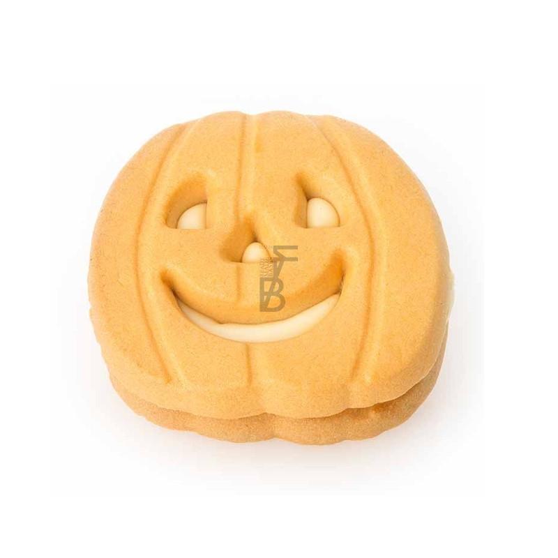 Zucche di halloween farcite cioccolato bianco