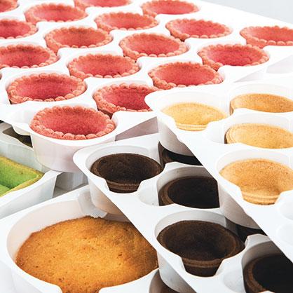 Vasta scelta di basi semilavorate per l'industria della pasticceria e della gastronomia